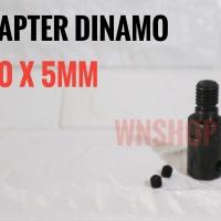 Adapter Dinamo 5mm Jadi Gerinda - adaptor konektor converter arbor