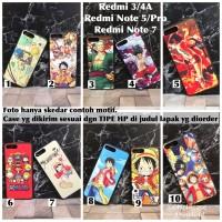 Man hard case one piece anime xiaomi redmi 3 4A note 7 5 pro
