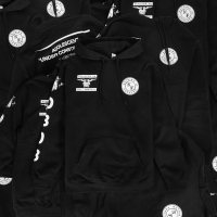 Hoodie H&M HM Think Division 08 Black Original not zara bape off white