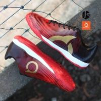 Sepatu Futsal Ortuseight Forte Helios In - Ortred/Black/Gold