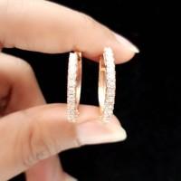 Berlian Medan Asli Anting Ring (3.72gr)