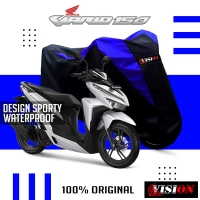 Cover motor Sarung motor Vario 150/125 Honda Biru