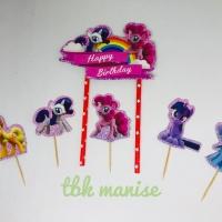 Topper Kue Kuda Pony / Cake Topper / Little Pony Cake Topper / Hiasan
