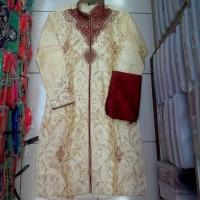 Baju India Kurta Sherwani Full Bordir S M L XL XXL Koko Pakistan