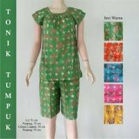 Setelan Batik Baju Tidur Remaja Celana Pendek
