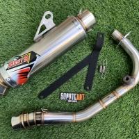 Knalpot Racing Best 3 Long Series Fullsystem Untuk Vespa Matic