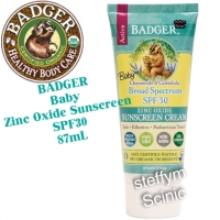 Badger Baby Sunscreen Cream SPF 30 PA+++, 87mL Made in USA
