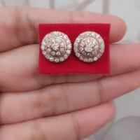 Berlian Medan Asli Anting / Krabu Stupa 4.5gr