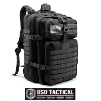 Tas Ransel Tactical 3P New Version Military Outdoor Backpack 45L Impor