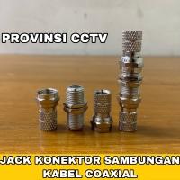 Konektor Sambungan Kabel CCTV / Jack Sambungan Coaxial