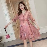 Baju Dress Ibu Hamil Casual Bunga Cantik Pergi Salem Import