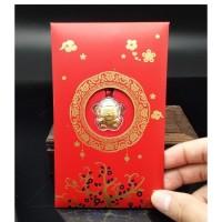Angpau Rat / Angpao Emas Gold 24K Gantungan Shio Tikus Kekinian