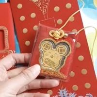 Angpau Imlek Rat / Angpao Emas Gold 24K Gantungan Lucu Shio Tikus