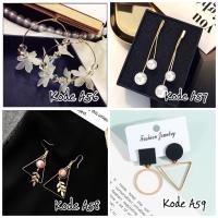 Anting gantung tusuk fashion earrings model unik lucu elegan murah