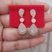 Berlian Medan Asli✨ Krabu/ Anting Labu Kombinasi 4.4gr