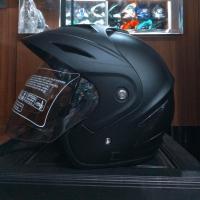 Helm Half Face ukuran XL XXL Transformer Hitam Doff