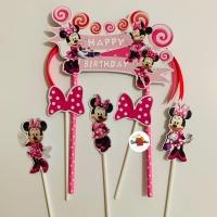 Minnie Mouse Lolipop Topper Cake Birthday / Hiasan Kue Ulang Tahun
