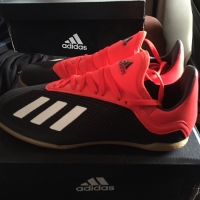 SEPATU FUTSAL ADIDAS X 18.3 IN J BLACK RED KIDS ORIGINAL