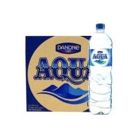 Aqua Botol Air Mineral 1500 ml / 1,5 liter (1 karton isi 12 botol)