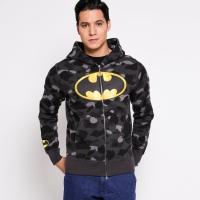 Jaket BAPE X DC Batman Zip Full Camo Army Grey original not off white
