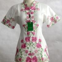 Kebaya encim modern lengan pendek edisi rose pink