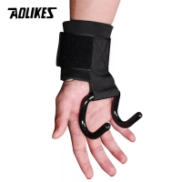 7642 AOLIKES WRIST BAND HOOK CLAW TALI STRAP WRAP FITNESS GYM SUPPORT