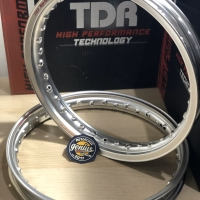 Velg TDR Set Er Shape 140X160 Ring 14 Silver Original