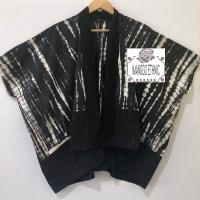 Kimono tenun lurik gerimis mix shibori