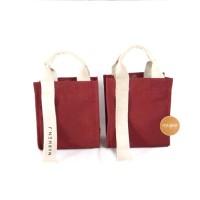 Marhen j ricky mini tas kecil korea kanvas premium selempang - maroon