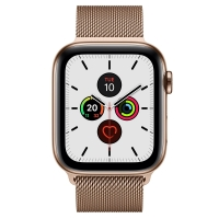 Apple Watch Series 5 44mm Gold Stainless steel case Gold Milanese Loop