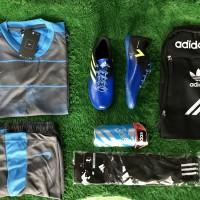 Paket Komplit Sepatu Futsal Anak Adidas V Size 33 - 37