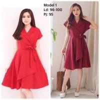 Shanghai Memory Red Dress Baju Natal Imlek CNY - 2759 SMC