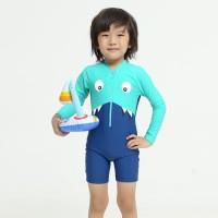 Baju renang diving anak tangan panjang/dino diving unisex lee vierra