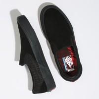 VANS SLIP ON PRO BAKER BLACK RED LIMITED EDITION