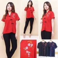 Cheongsam Dress Top Baju Imlek Chinese New Year Shirt - TSB99