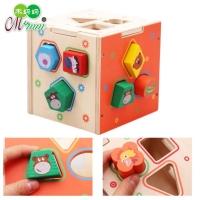 Wooden Animal Shapes Puzzle Mainan Edukasi Kayu Education Toy