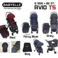 Stroller Babyelle Avio Rs TS plus car seat 959 Bisa gosend