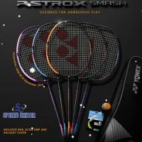 Free pasang Raket Badminton YONEX ASTROX SMASH BUNDLE KOMPLIT ORIGINAL