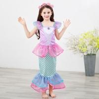Baju gaun dress anak perempuan kostum princess ariel mermaid import Q3