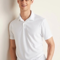 Kaos Kerah Old Navy Moisture-Wicking Tricot Polo Shirt White Original