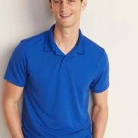 Kaos Kerah Old Navy Moisture-Wicking Tricot Polo Shirt Blue Original