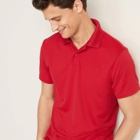 Kaos Kerah Old Navy Moisture-Wicking Tricot Polo Shirt Red Original