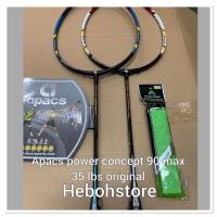Promo Raket Badminton APACS POWER CONCEPT 90 bonus grip KUAT 35 LBS