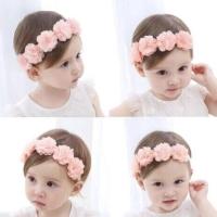 Bandana Nilon Bando Bunga Pita Anak Headband Baby Cantik - Turban