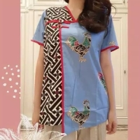 Elegant Cheongsam Top Baju Wanita Imlek Chinese New Year Shirt 6050