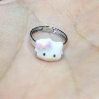 Cincin Anak Hello Kitty Emas Putih 750 Baby Ring
