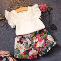 Casual baju anak Import, celana bunga,lace floral,baju anak lucu Impor - 140
