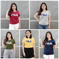 FILA Kaos Wanita/ T shirt / Tumblr Tee lengan pendek