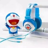 headset bando /handsfree earphone doraemon
