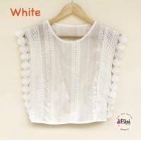 Baju brukat impor bangkok / bkk lace top / atasan putih brokat wanita